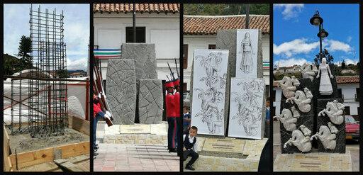 Escultura en homenaje a la Heroína Juana Escobar